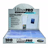 100 Folhas Fichario Ultra Pro 9 Pockets Mtg Pokemon