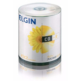100 Midia Virgem Cd r Elgin 52x 700mb 80min Cdr C logo