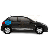 Adesivo Sport Peugeot 206 207 2 Portas Lateral Tuning Carros