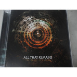 All That Remains   The Order Of Things  2015  Cd Importado