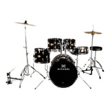 Bateria Michael Bumbo 22 Audition Cor Black Completa   Promo