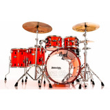 Bateria Pearl Crystal Beat Ruby Red Com Bumbo 22¨  Tons 10¨