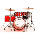 Bateria Pearl Crystal Beat Ruby Red Com Bumbo 22¨  Tons 8¨