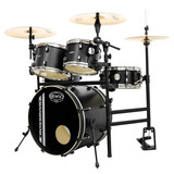 Bateria Rmv Cross Road Practical Com Rack   Pedal Preta