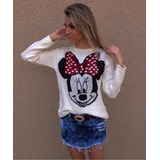 Blusa De Tric� Tricot Cardig�s L� Disney Minnie Mickey Mouse