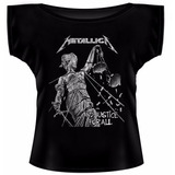 Blusinha Gola Canoa Metallica   And Justice For All   Mod 32