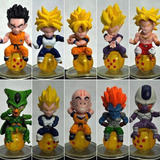 Boneco Dragon Ball Unidade Miniatura Dragon Ball Goku Vegeta