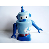 Boneco Robo Promocional China In Box Blue Azul No Estado