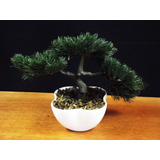 Bonsai Vaso Branco   Mini Árvores Artificial Plantas Arranjo