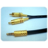 Cabo P2   2 Rca Gold 5mts Stereo