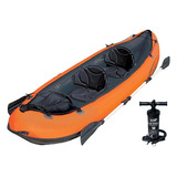 Caiaque Infl�vel Hydro force 200kg Remos Bomba Bestway Canoa