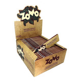 Caixa Seda Zomo Browm Marrom Grande Smoking King Size C/ 50