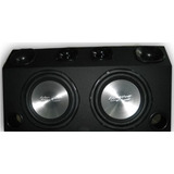 Caixa Som Trio 1000 Watts 2 Sub   2 Driver   2 Super Tweeter
