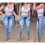 Cal�a Jeans Destroyed Hot Pant Rasgada Panicat Moleton