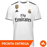 Camisa adidas Real Madrid 2018 Oficial Patch Mundial Fifa 08d6eaffcefeb