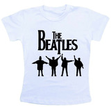 Camiseta Baby Look Feminina   The Beatles