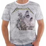 Camiseta Baby Look Regata Metallica     And Justice For All