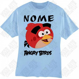 Camiseta Camisa Personalizada Infantil Angry Birds Red Nome 474cde26b26
