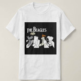 Camiseta Camisa The Beagles Snoopy Dog The Beatles Música