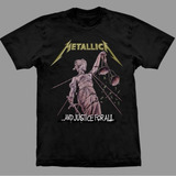 Camiseta Infantil Metallica  And Justice For All  cód 348