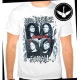 Camiseta Metallica And Justice For All Banda Rock Metal