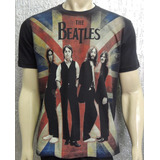 Camiseta Premium   The Beatles   Bandeira
