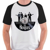 Camiseta The Beatles Nome Banda Membros Paul Camisa Raglan