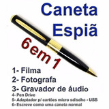 Caneta Filmadora Espia Hd Mini Micro Camera Escondida