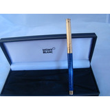 Caneta Montblanc Noblesse Tint Gold Marble Blue 100%origin
