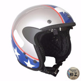 Capacete Custom Kraft Old School American   Harley Shadow