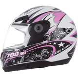 Capacete Evolution 3g 788 For Girls Feminino   2 Brindes
