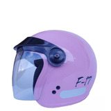 Capacete Fly F 17 Lilas Aberto F 17 N° 56 Ou 58