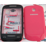Carca�a Samsung S3850 Cobry 2 Rosa   Chassi   Bot�es Complet