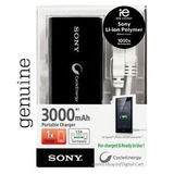 Carregador Port�til Sony Cp v3a 3000 Tablet Celular