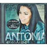 Cd Duplo Antônia Gomes Substituto Playback Incluso  biblos