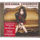 Cd Dvd Miranda Cosgrove  High Maintenance  Icarly Drake Josh