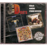 Cd Eagles   Kansas   Lynard Skynyrd   3d Isc  S   Novo