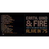 Cd Earth Wind E Fire Alive In  75 That s The Way 2002 Usado