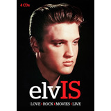 Cd Elvis Presley   Love   Rock   Movies   Live   Box 4 Cds