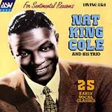 Cd Nat  King  Cole   For Sentimental Reasons: 25 Early Vocal