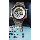 2dbb3b3902f Citizen C050 Yachting Série Ouro Wind Surf Combo Promaster