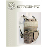 Colete Tatico Modular Molle A tac Strike Plate Carrier Tan