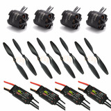 Combo Drone 4 X Mt2216 Emax    Esc Blheli Emax 30a   Helices