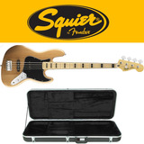 Contra Baixo Fender Squier Jazz Bass Com Hard Case Gator Top
