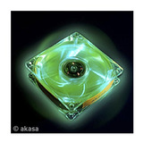 Cooler Fan Akasa Crystal C  4 Led s   Verde 12x12 Cm