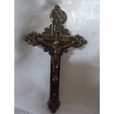 Crucifixo Antigo De Bronze