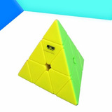Cubo M�gico Qiyi Pyraminx Stickerless Pe�as Coloridas