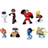 Disney Pixar Mini Figuras   Nemo Dory Incriveis Wall e Eve