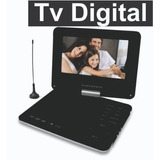 Dvd Portatil Tv Digital Powerpack 9 Gir  Game Suporte Banco