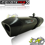 Escape Ponteira Coyote Trs Tri oval Cb 500 97 05 Preto Black